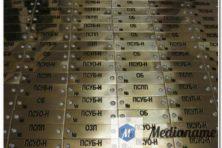 Металлические шильды из латуни