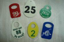Пластиковые номерки для гардеробов
