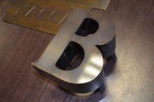 Буквы из латуни изготолвение