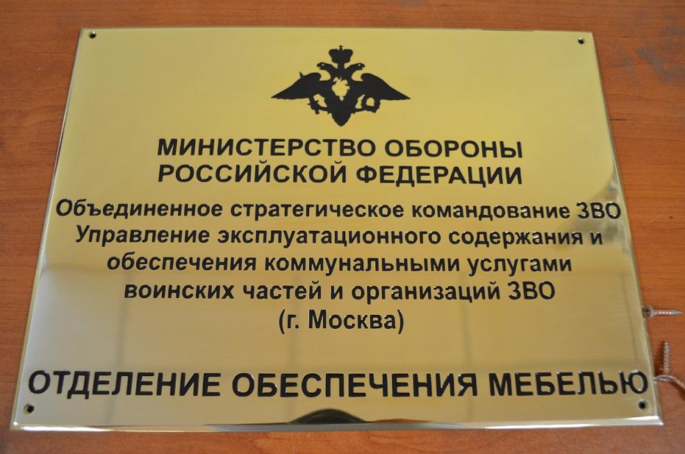 Латунная табличка